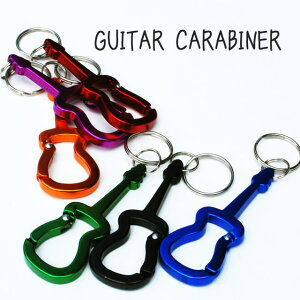 カラビナ キーホルダー Bison Designs  バイソンデザイン カラビナ CUSTOM SHAPED CARABINER -ギター- カラビナ BISON DESIGNS
