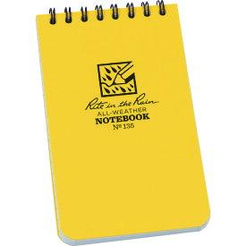 RITR 3X5 トップスパイラル ノートブック ユニバーサル イエロー