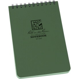 RITR 4×6 トップスパイラル ノートブック ユニバーサル グリーン