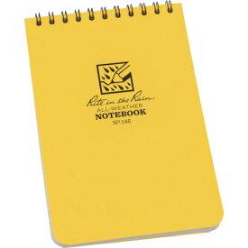 RITR 4×6 トップスパイラル ノートブック ユニバーサル イエロー