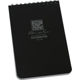 RITR 4X6 トップスパイラル ノートブック ユニバーサル ブラック