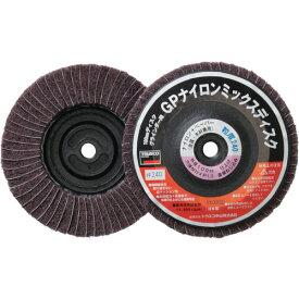 TRUSCO GPナイロンミックスディスク ねじ込み 直径100 5個入 240#