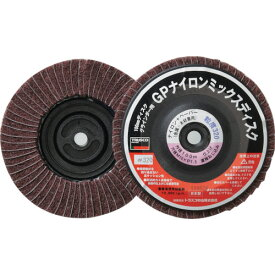 TRUSCO GPナイロンミックスディスク ねじ込み 直径100 5個入 320#