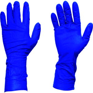 TRUSCO 使い捨て天然ゴム手袋TGプロテクト 0.20 粉無青S 50枚