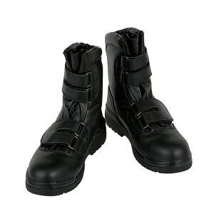 CO-COS コーコス ZA-49 S FORCE 安全靴 作業靴 スーパー ハイカット ブーツ 長靴 鋼製先芯 耐油底 ツマ先カカト本革 静電 ベルクロ マジックテープ ブラック メンズ靴 スニーカー 作業用品【メーカ