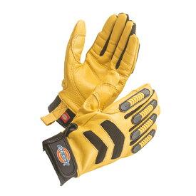 D-3108 牛本革グローブ イエロー 作業用手袋 皮手袋 革手袋 レザーグローブ Dickies ディッキーズ【メーカー在庫確認・お取り寄せ品】