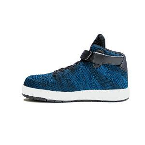 安全靴 スニーカー ジョーマーべリック ファインニット JW-481 JW-482 JW-483 ブルー ミドルカット JOH MAVERICK Fine Knit セーフティーシューズ メンズ靴 作業用品 足首ベルト 紐 ひも【メーカー在庫確