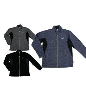 ミズノ(MIZUNO) K2JC6510 ジャージシャツ 上着 ジップアップ 作業着 ランニング スポーツ トレーニングウエア メンズ 裏起毛
