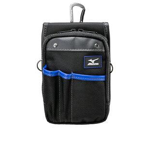 ミズノ MIZUNO F3JMP00109 ポーチ ベルトフープ カラビナ付 ブラック 仕切りポケット 工具袋 ポーチ 腰袋【メーカー在庫確認・お取り寄せ品】