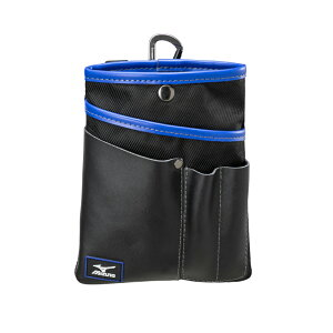 ミズノ MIZUNO F3JMP00209 シザーバッグ ベルトフープ カラビナ付 ブラック 薄型用具入れ 工具袋 ポーチ 腰袋【メーカー在庫確認・お取り寄せ品】