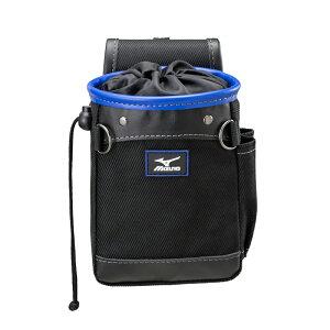 ミズノ MIZUNO F3JMP00309 チョークバッグ ベルトフープ カラビナ付 ブラック 薄型用具入れ 工具袋 ポーチ 腰袋【メーカー在庫確認・お取り寄せ品】