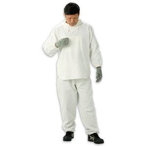 綿100% ヤッケ HK-506 塗装服 胸中央ポケット付 フリーサイズ(Lサイズ)(上下セット) 作業用 汚れ防止