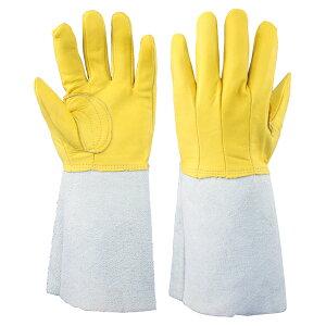 proues(プロウエス) 1712-7 牛床革手袋 コンビ 5本指背縫い 溶接用 10双/袋 作業用手袋 牛床皮手袋 皮革 PROUESU 日光物産(NiKKO)