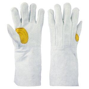 proues(プロウエス) 8711-7Y 牛床革手袋 吟当て付き 5本指背縫い 溶接用 1双 作業用手袋 牛床皮手袋 PROUESU 日光物産(NiKKO)