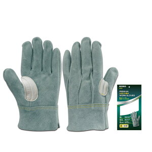 proues(プロウエス) 8900 オイル革手袋背縫い 5本指吟当て 高強度アラミド糸 1双 作業用 溶接 オイル皮手袋 PROUESU 日光物産(NiKKO)