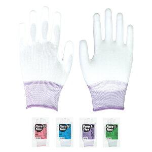proues(プロウエス) PUコーティング手袋 プロフレックス 240双/箱(10双/袋×24) PuroFlex ウレタン手袋 精密作業 背抜き 作業用 PROUESU 日光物産(NiKKO)