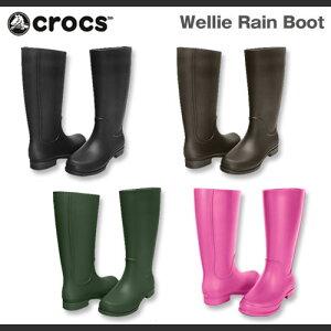 【在庫一掃SALE】【送料無料】【在庫処分】レディース クロックス ウェリー レインブーツ Crocs Wellie Rain Boot Women ブーツ 長靴 レインブーツ