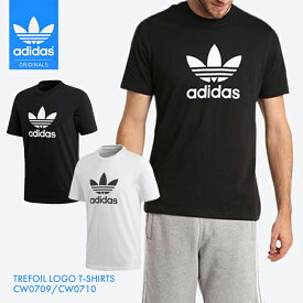新入荷【送料無料】adidas アディダス Originals オリジナルス TREFOIL トレフォイル LOGO T-SHIRTS Tシャツ シンプル 無地 白 黒 ブラック ホワイト メンズ TEE インナー