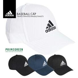 【送料無料】高機能リサイクル生地を使用したベースボールキャップが登場 adidas アディダス コットン 野球 ブラック ホワイト テニス スポーツ ゴルフ メンズ レディース 帽子