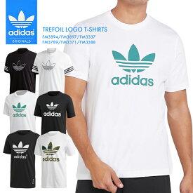 【送料無料】アディダス人気のシンプルなロゴTシャツ メンズ トレフォイル adidas 半袖 ティーシャツ FM3894 FM3897 FM3337 FM3789 FM3371 FM3388 コットン 綿 スポーツ 紳士 ウェア トップス メンズ 白 黒 半袖 シャツ 3ストライプ*