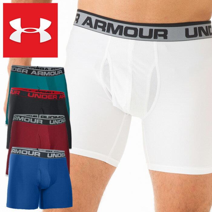 アンダーアーマー メンズボクサーパンツ UNDER ARMOUR THE ORIGINAL 6 BOXERJOCK 下着 肌着 スポーツ ストレッチ ブラック ホワイト