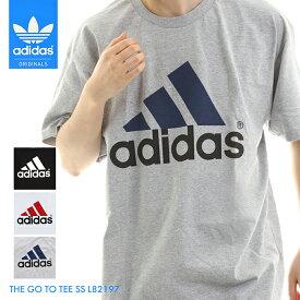 【送料無料】アディダス メンズ 半袖 Tシャツ ウェア トップス tシャツホワイトブラックグレー白 黒 ロゴ 男性 紳士 大きいサイズ 綿 100% コットン ゆったり adidas THE GO TO TEE SS L82197 *