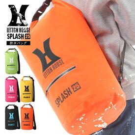 【送料無料】防水バッグ 25L 2way LEYTON HOUSE レイトンハウス メンズ レディース ジュニア ユニセックス 防水 ドライバッグ ショルダーバッグ レジャー サーフ フェス マリン バック プールバッグ プールバック ストラップ レース サーキット