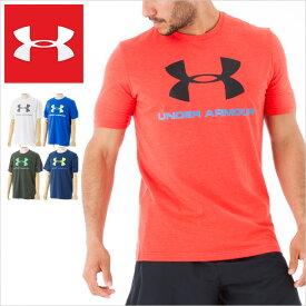 送料無料 アンダーアーマー Tシャツ UNDER ARMOUR TEE SHIRTS アンダー アーマー メンズ tシャツ 半袖 ロゴ スポーツ ヒートギア*