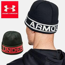 【送料無料】UNDER ARMOUR MEN'S BRANDED CUFF BEANIE 1345107 アンダーアーマー メンズ ブランデッド カフ ビーニー帽 防寒 帽子*