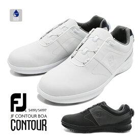 【送料無料】FootJoy FJ CONTOUR BOA 54191 54197 フットジョイ コンツアー ゴルフ スパイク 靴 スニーカー 防水 ダイヤルシューズ メンズ 男性 紳士