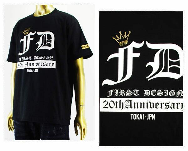 ALPHA PLUS アルフアプラス First DESIGN(ファーストデザイン)20周年記念 コラボ Tシャツ メンズ 【FD 20th Anniv】