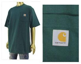 CARHARTT カーハート ビッグサイズ 対応 6.75オンスのコットンジャージー素材を使用した厚手でしっかりした生地感 タフな Tシャツ メンズ 【K87-HTG ポケット】