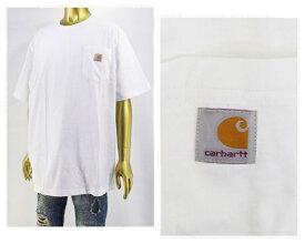 CARHARTT カーハート ビッグサイズ 対応 6.75オンスのコットンジャージー素材を使用した厚手でしっかりした生地感 タフな Tシャツ メンズ 【K87-WHT ポケット】