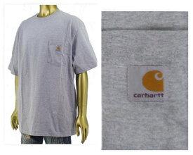 CARHARTT カーハート ビッグサイズ 対応 6.75オンスのコットンジャージー素材を使用した厚手でしっかりした生地感 タフな Tシャツ メンズ 【K87-HGY ポケット】