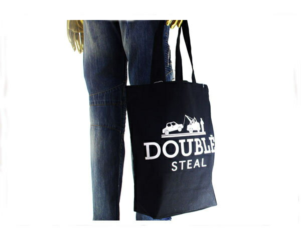 DOUBLE STEAL ダブルスティール 411(フォーダブルワン)掲載ストリートブランド 今ちょうど良い ミニ サイズ トート バッグ メンズ 「472-90010-09」