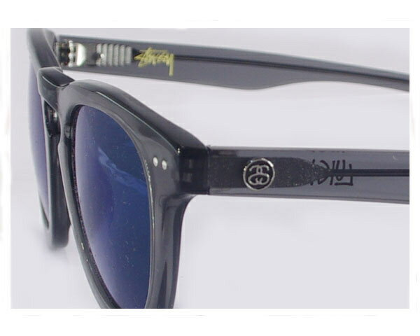 STUSSY ステューシー LUIGI SUNGLASS TRANSLUCENT GREY/BLUE MIRROR UV サングラス メンズ 【140004 LUIGI】