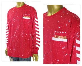 CONTRIBE コントライブ スプラッシュ アームプリント ペンキタッチ 胸ポケット付き Tシャツ L/S メンズ 【72701509 03スプラッシュ】