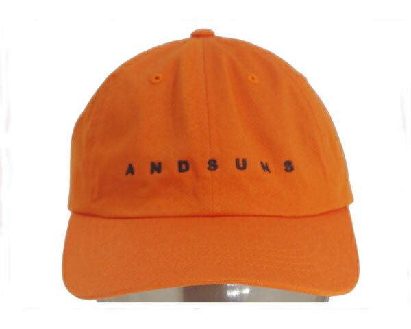ANDSUNS アンドサンズ 6PANELS ブランドネームロゴ6パネル ストラップバック キャップ(CAP) メンズ 【AS176707 6PANEL】