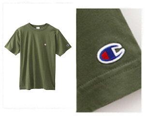 CHAMPION チャンピオン 伝統のCロゴは胸と左腕に刺繍 生地を挟みこんで縫製したバインダーネック JAPANサイジング Tシャツ メンズ 【C3-H359 C3-P300 570Cロゴ】
