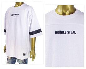 DOUBLE STEAL ダブルスティール Football Tee 程よいボリューム感 7分丈袖のフットボール Tシャツ メンズ 【981-16001 フットB】