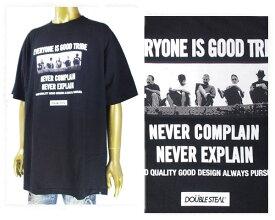 DOUBLE STEAL ダブルスティール Street 5 BOYS 未来を語る5人衆のワンシーンをフォトで落とし込んだ男らしいグラフィック Tシャツ メンズ 【982-14206 STR5】
