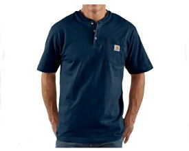 CARHARTT カーハート Carhartt Mens Workwear Pocket Short Sleeve Henley Original Fit Shirt K84 メンズ 【K84-NVY ヘンリー】