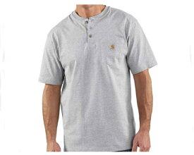 CARHARTT カーハート Carhartt Mens Workwear Pocket Short Sleeve Henley Original Fit Shirt K84 メンズ 【K84-HGY ヘンリー】