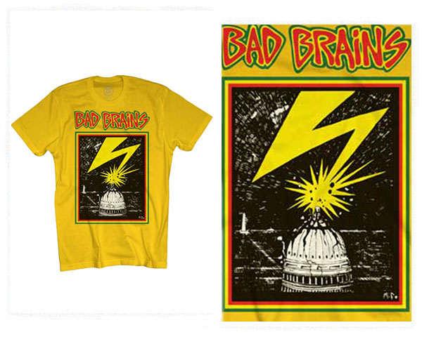 OFFICIAL LICENSE オフィシャル ライセンス BAD BRAINS(バッドブレインズ) 1978年にメリーランド州にて結成 レゲエ、ヘヴィメタルの要素も取り入れたミクスチャー・ロック Tシャツ メンズ 【13465 BAD BRAINS】