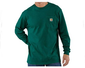 CARHARTT カーハート ビッグサイズ 対応 6.75オンスのコットンジャージー素材を使用 無地 ロンT ポケt ポケット Tシャツ メンズ 【K126-HTG ポケット】