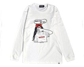 DOUBLE STEAL ダブルスティール BOXLOGO Girl 赤いCAPがポイント 味のある手書き風ガール 長袖 Tシャツ メンズ 【984-14216 01A】