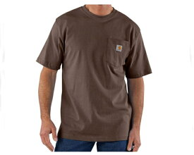 CARHARTT カーハート カーハート CARHARTT ビッグサイズ 対応 6.75オンスのコットンジャージー素材を使用した厚手でしっかりした生地感 タフな Tシャツ メンズ 【K87-DKB ポケット】