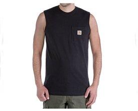 CARHARTT カーハート Workwear Pocket Sleeveless ワークウェアポケット付ノースリーブ T-Shir Tシャツ メンズ 【100374 001ノースリ】