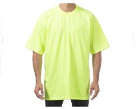 PRO CLUB プロクラブ SAFETY GREEN ビックサイズ対応 無地 LAストリート MADE IN USA ヘビーウェイト Tシャツ メンズ 【HEAVY W 101 SA!】
