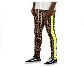 WEIV ウェイブ CHEETAH PRINT STRIPE TRACK PANTS- LIME ジャージ トラックパンツ メンズ 【P161 NEON チーター】